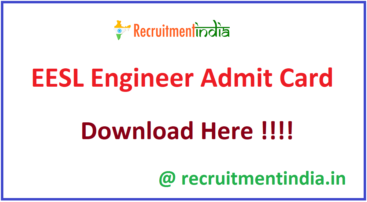 EESL Engineer Admit Card