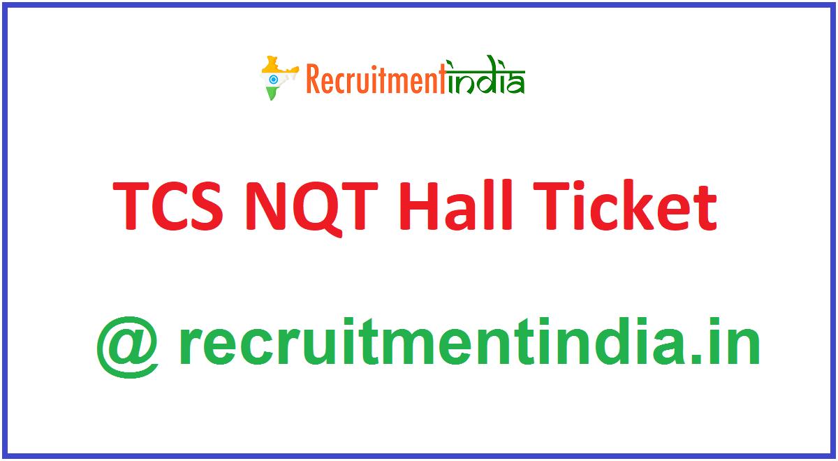TCS NQT Hall Ticket
