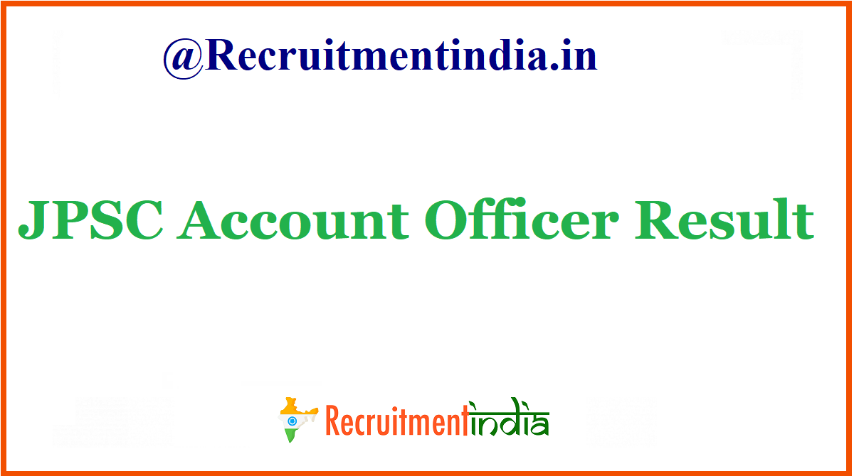 JPSC Account Officer Result