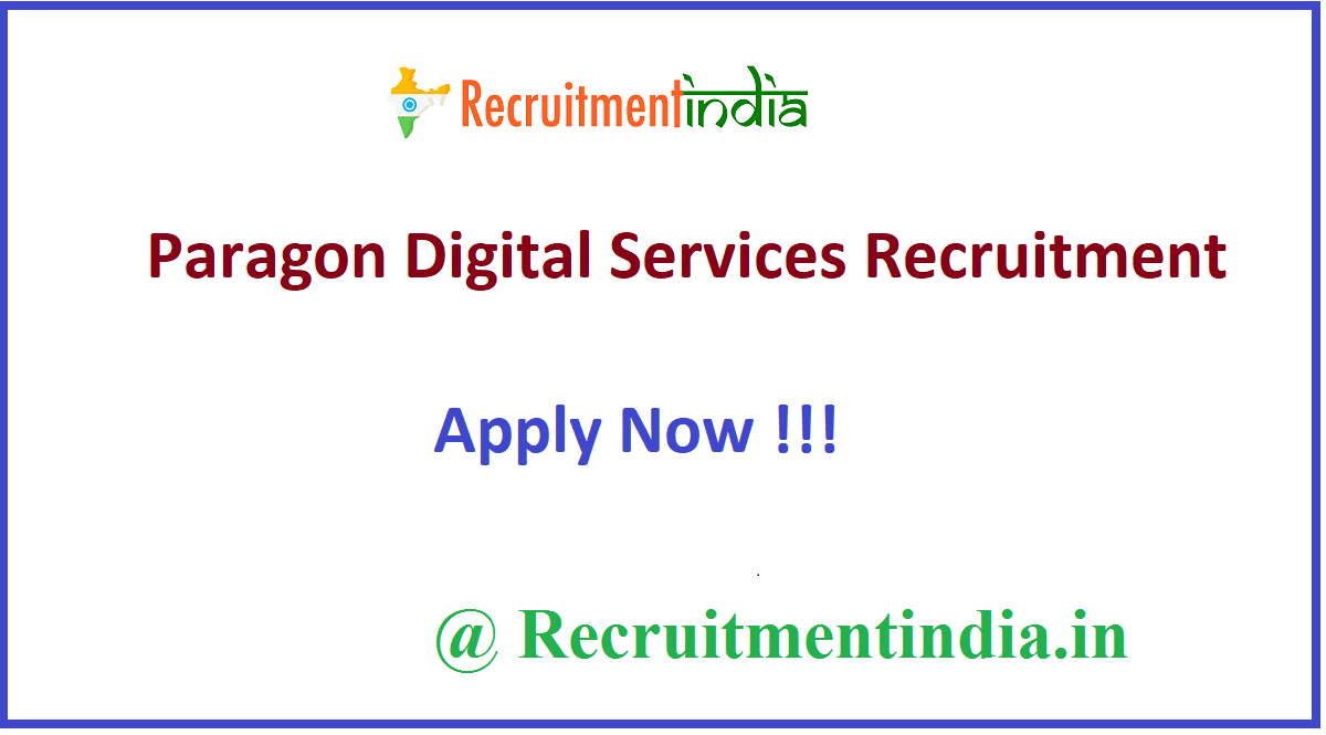Paragon Digital Services Recruitment