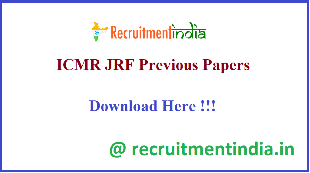 ICMR JRF Previous Papers