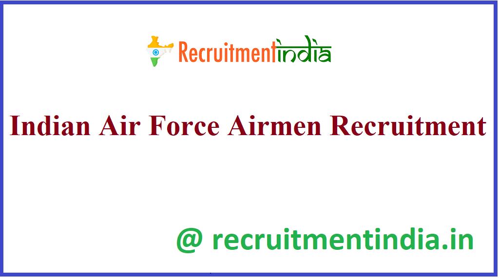 Indian Air Force Airmen Recruitment