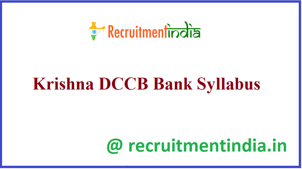 Krishna DCCB Bank Syllabus