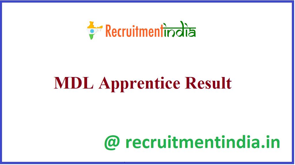 MDL Apprentice Result