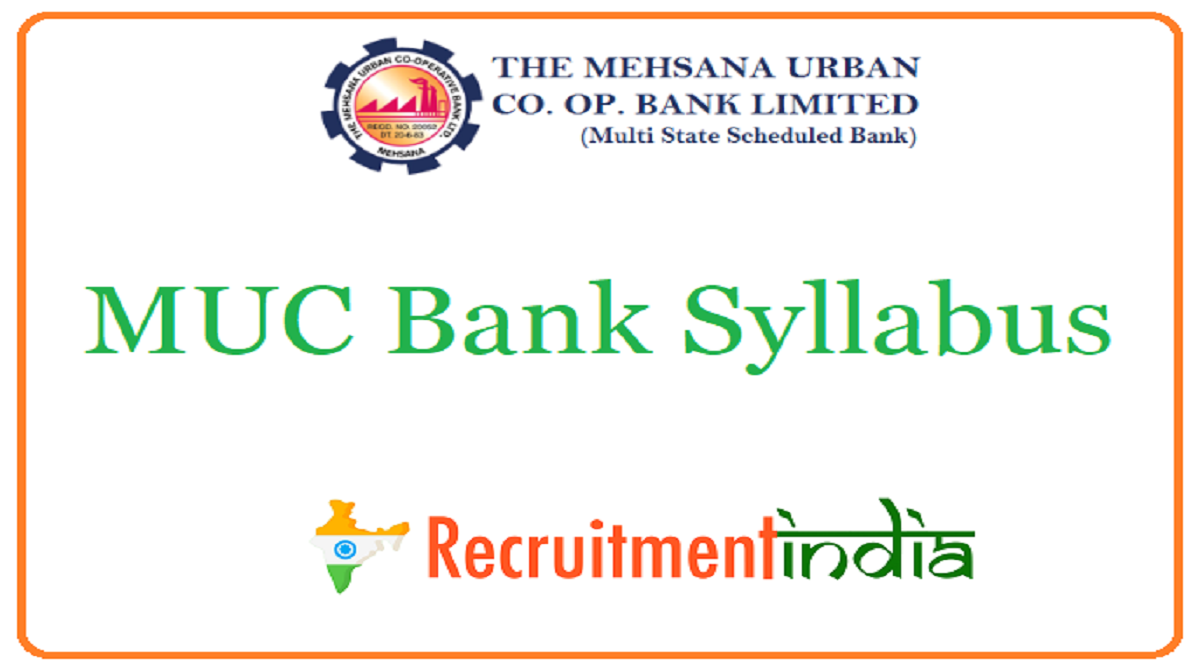 MUC Bank Syllabus