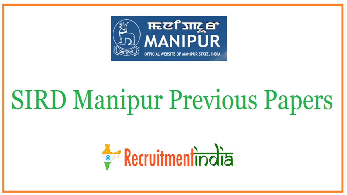 SIRD Manipur Previous Papers