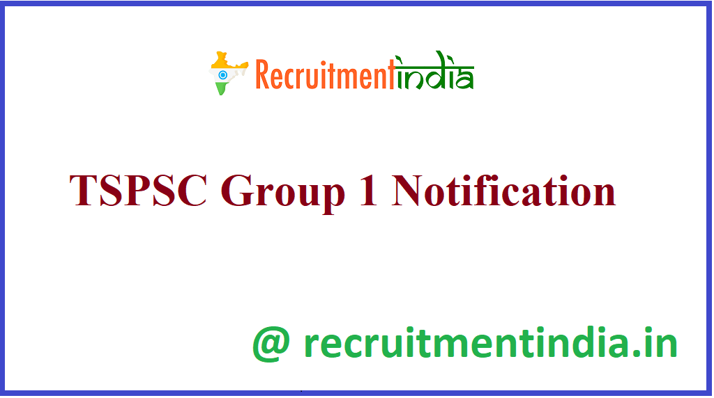 TSPSC Group 1 Notification
