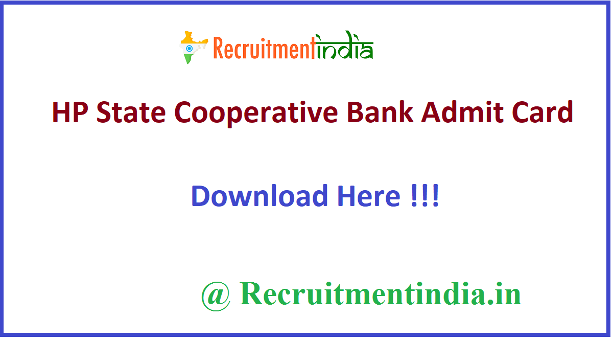 HP State Cooperative Bank Admit Card
