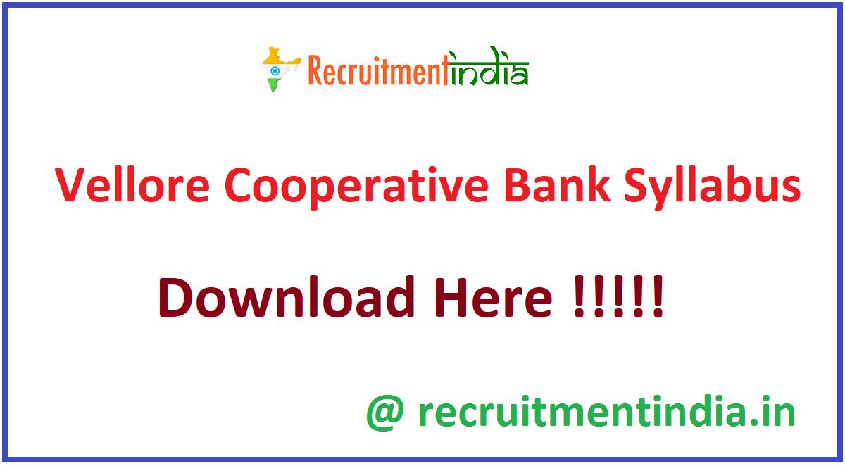Vellore Cooperative Bank Syllabus