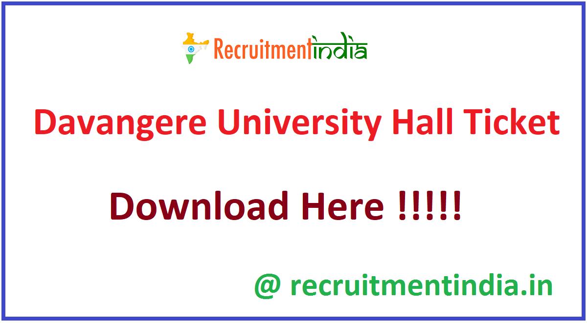 Davangere University Hall Ticket