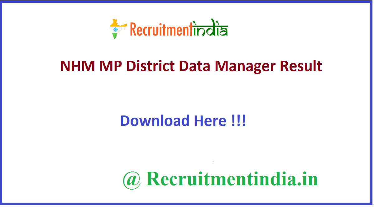 NHM MP District Data Manager Result