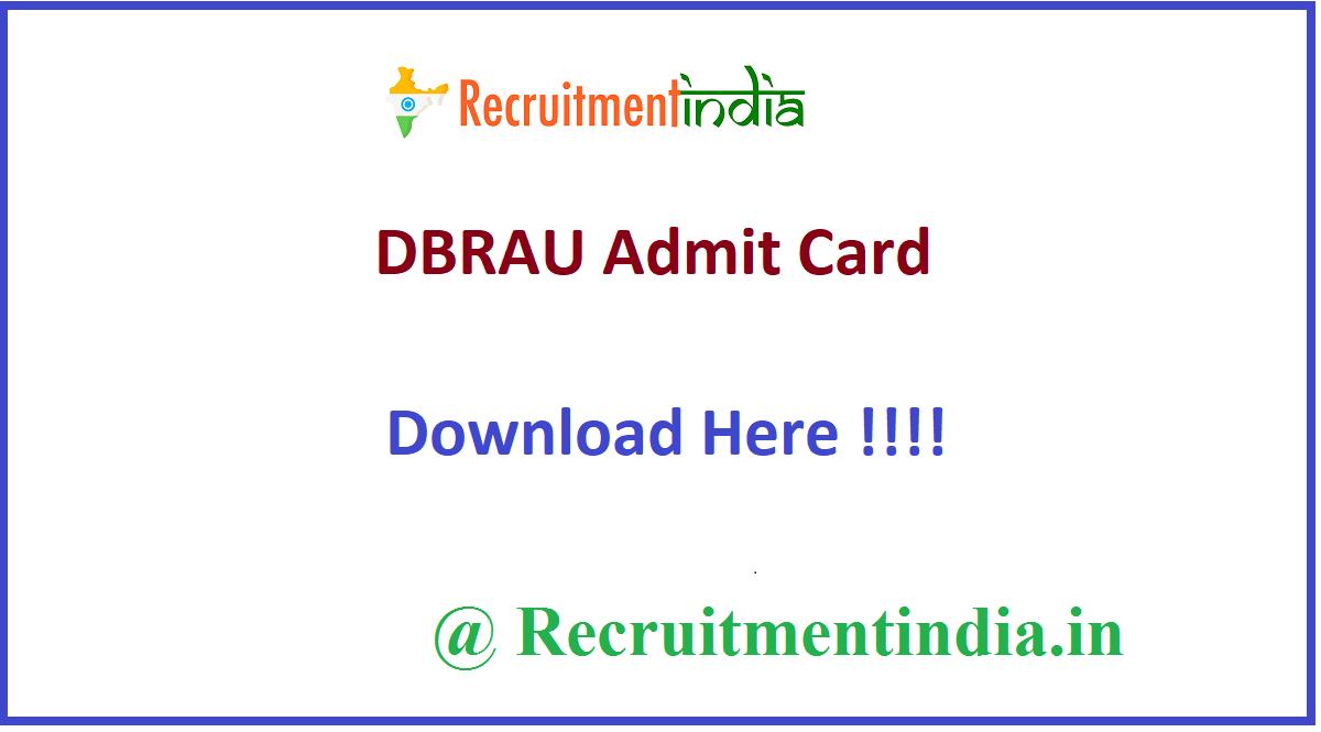 DBRAU Admit Card