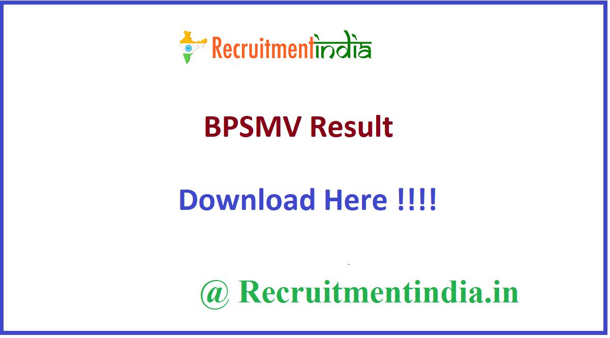 BPSMV Result