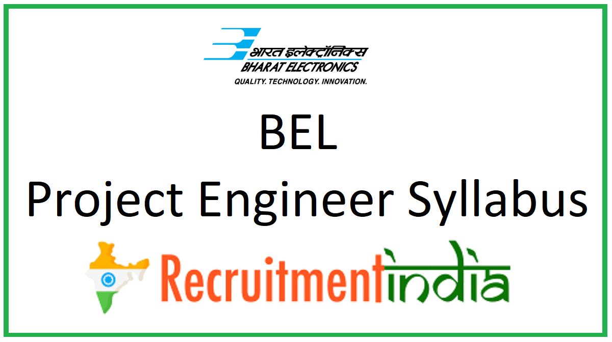 BEL Project Engineer Syllabus