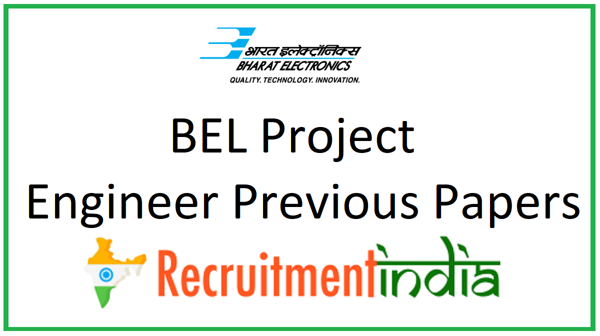 BEL Project Engineer Previous Papers