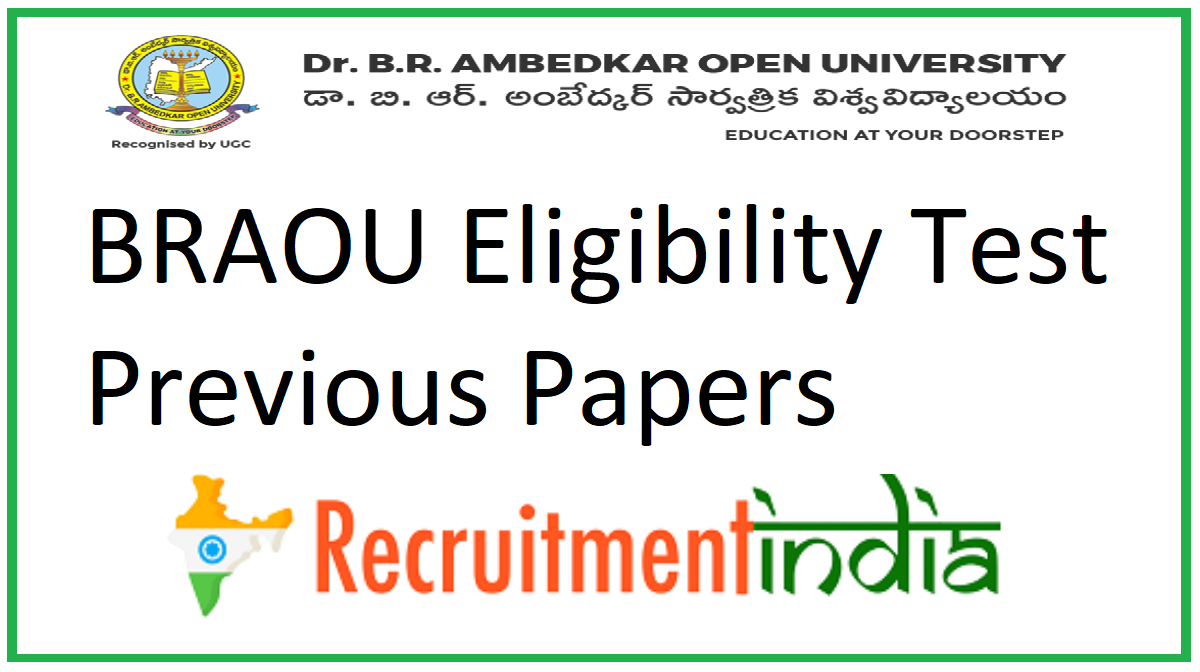 BRAOU Eligibility Test Previous Papers