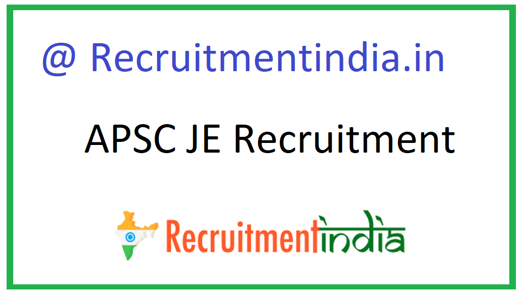 APSC JE Recruitment