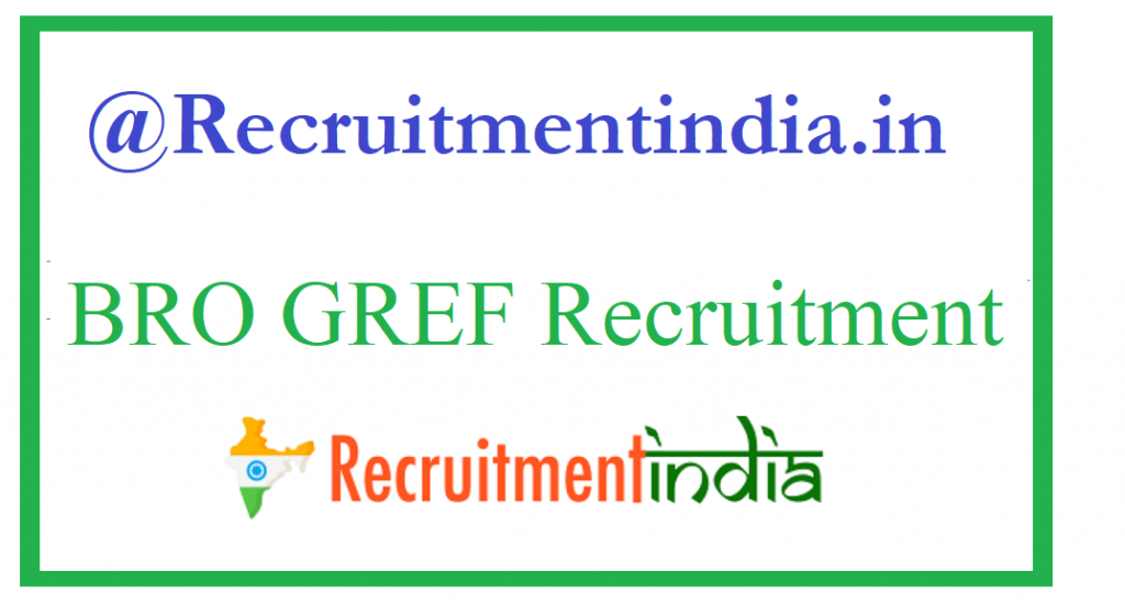 BRO GREF Recruitment