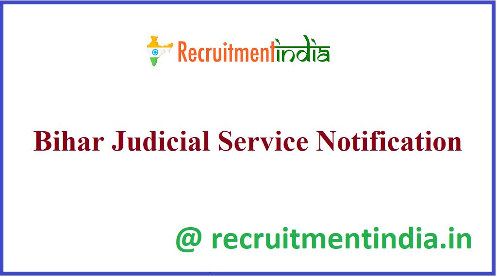 Bihar Judicial Service Notification