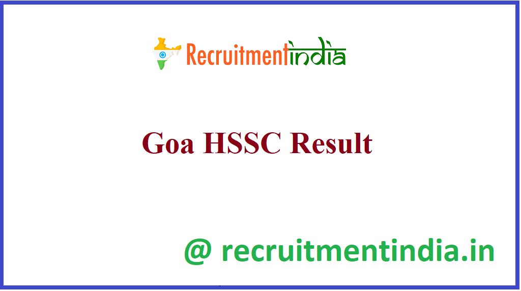 Goa HSSC Result