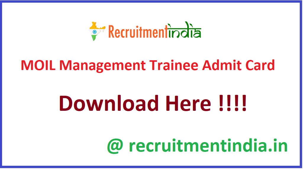 MOIL Management Trainee Admit Card