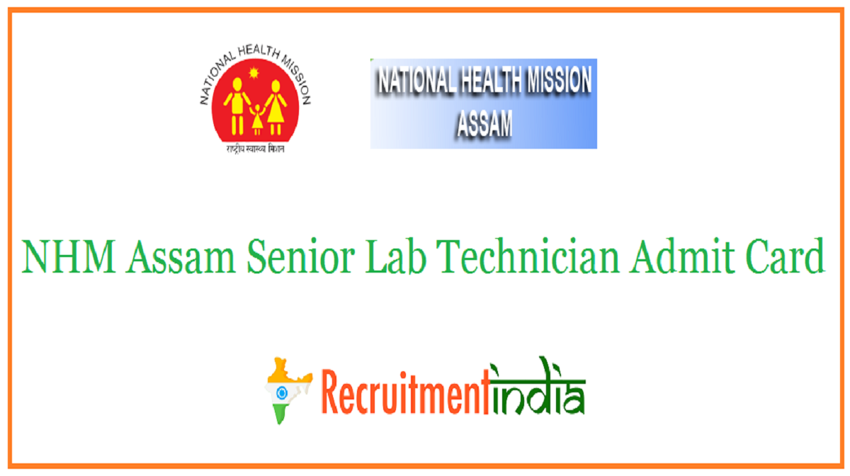 NHM Assam Senior Lab Technician Admit Card