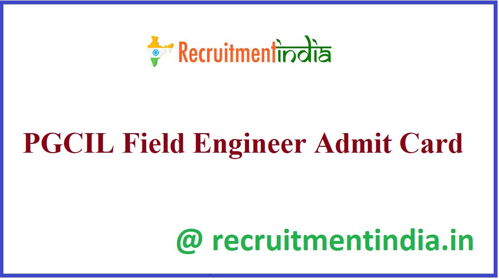 PGCIL Field Engineer Admit Card