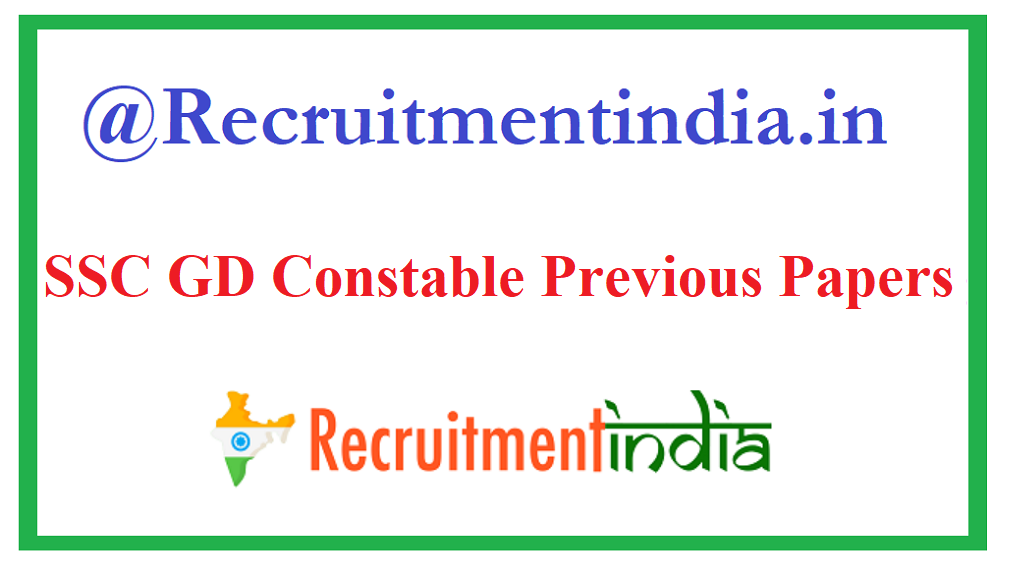 SSC GD Constable Previous Papers