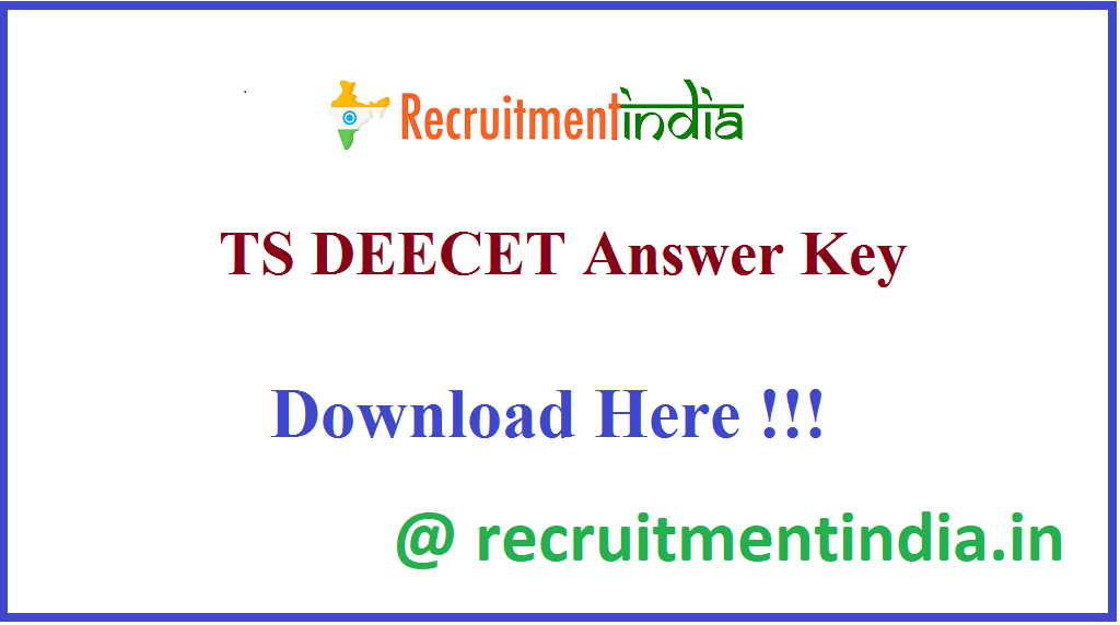 TS DEECET Answer Key
