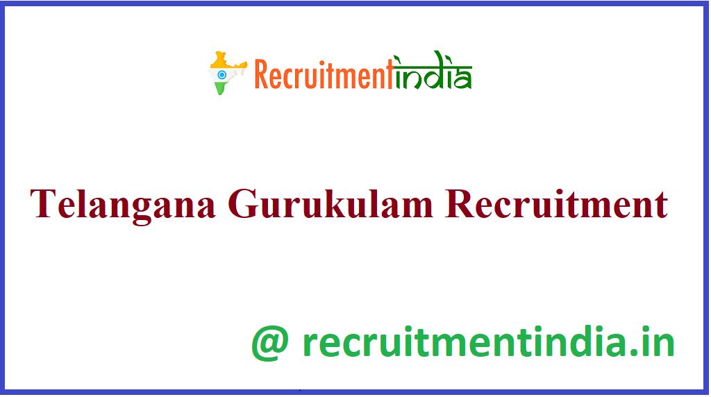 Telangana Gurukulam Recruitment