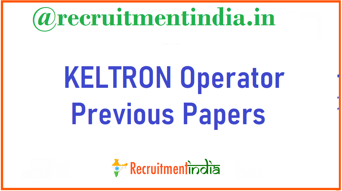 KELTRON Operator Previous Papers