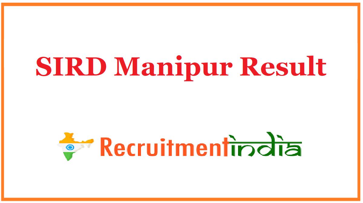 SIRD Manipur Result