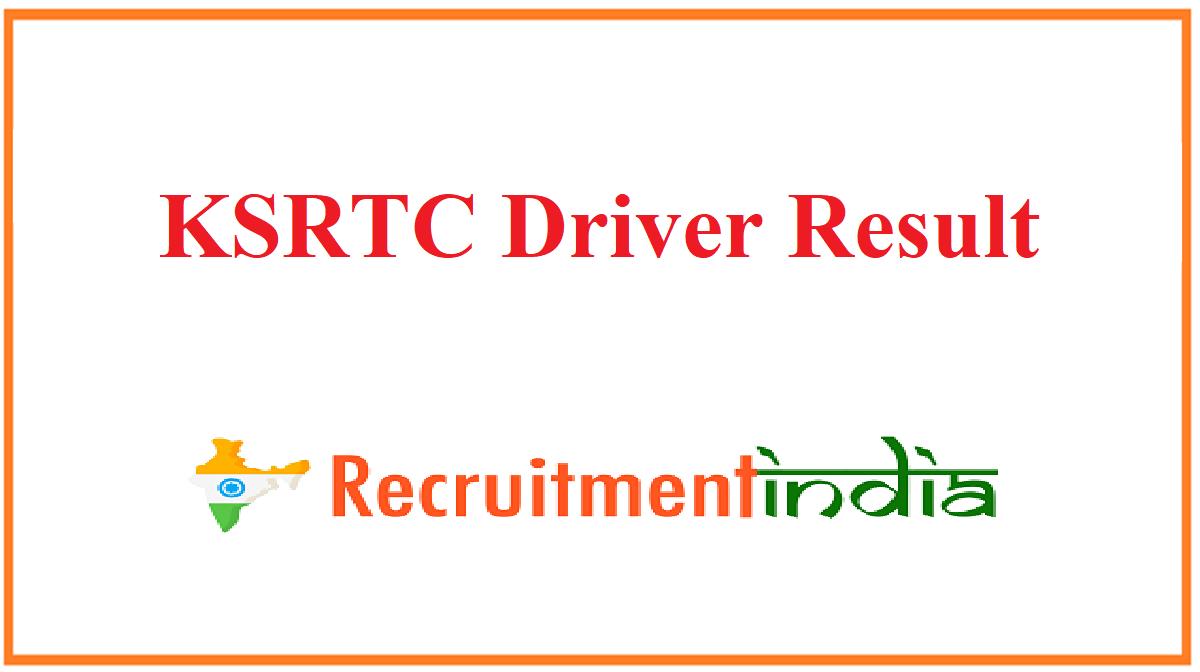 KSRTC Driver Result