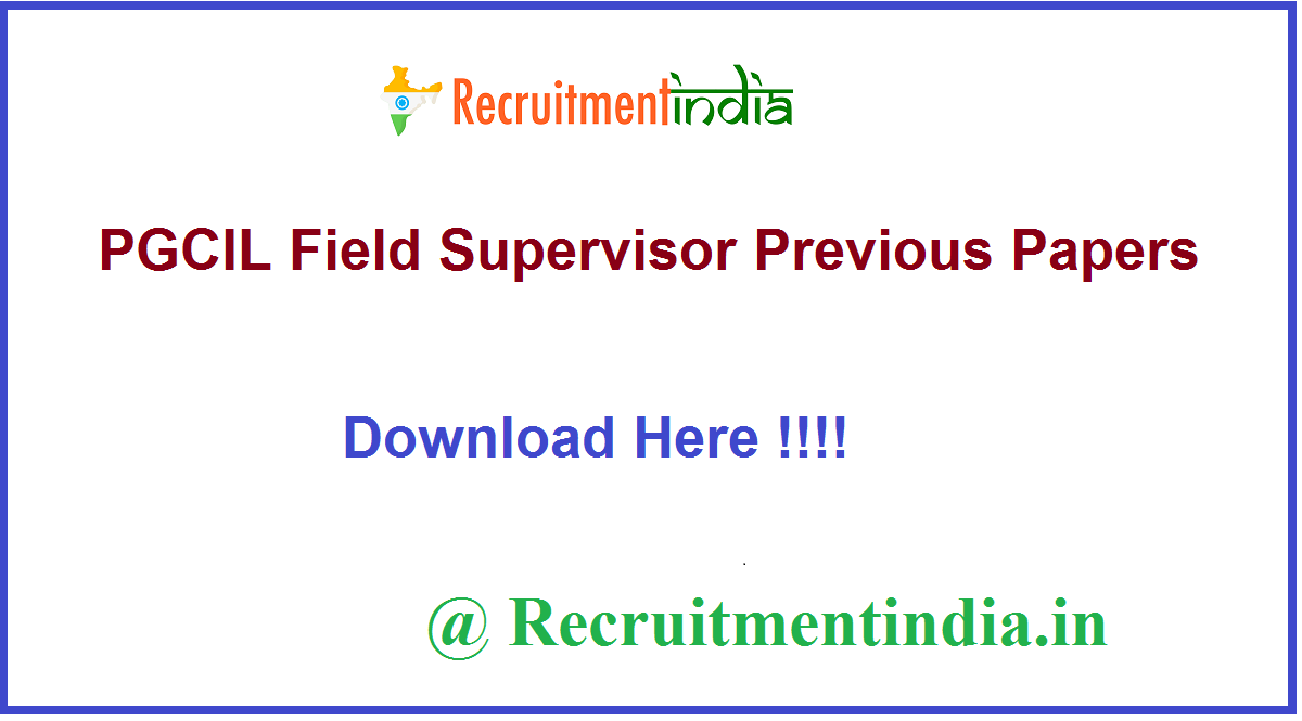PGCIL Field Supervisor Previous Papers