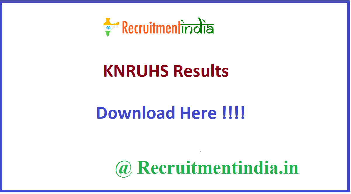 KNRUHS Results