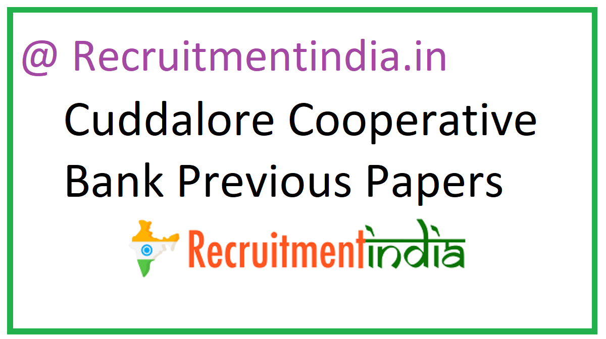 Cuddalore Cooperative Bank Previous Papers