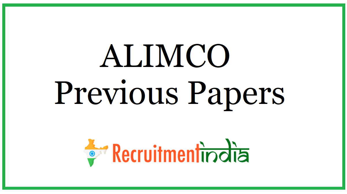 ALIMCO Previous Papers