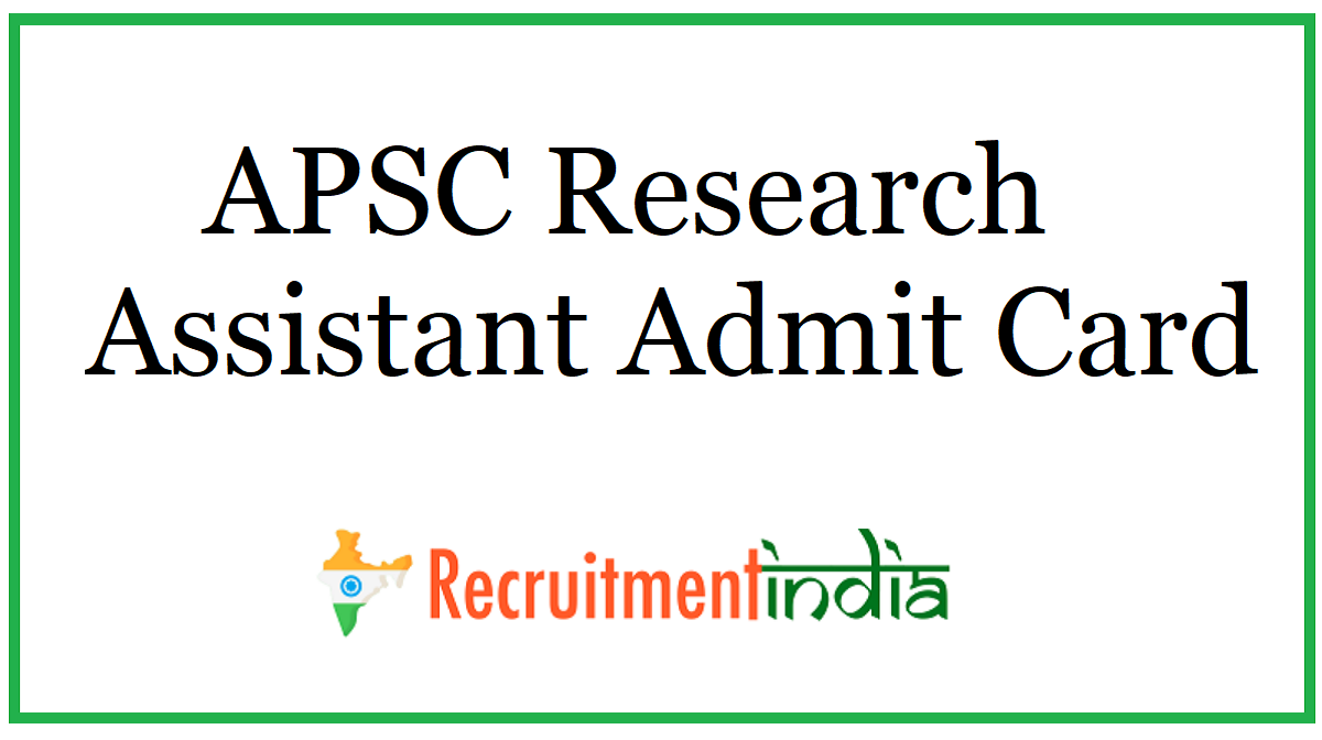 APSC Research Assistant Admit Card