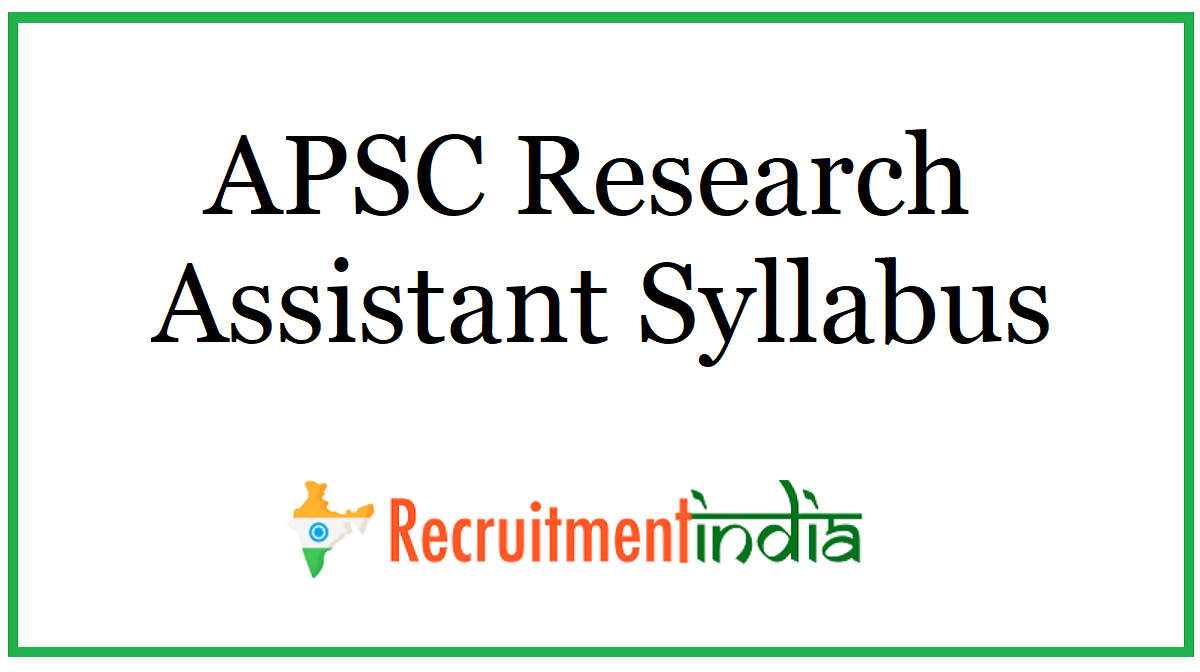 APSC Research Assistant Syllabus