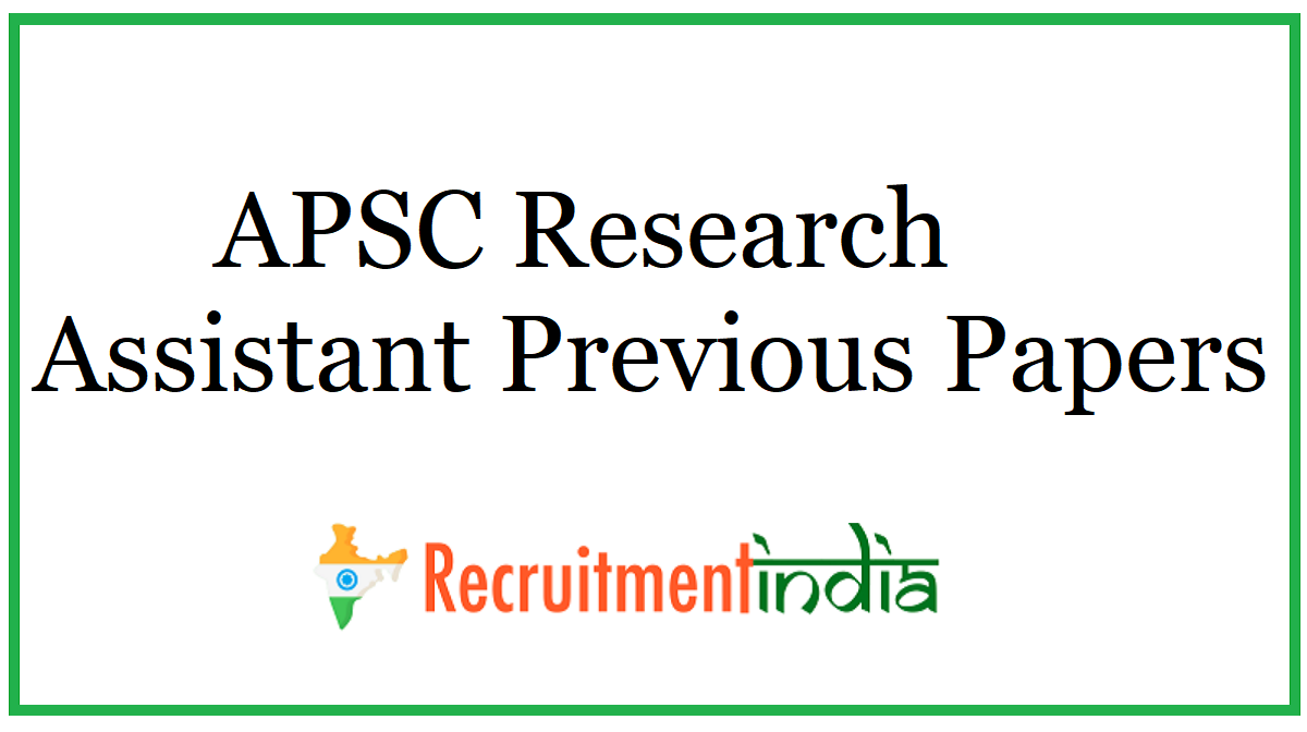 APSC Research Assistant Previous Papers