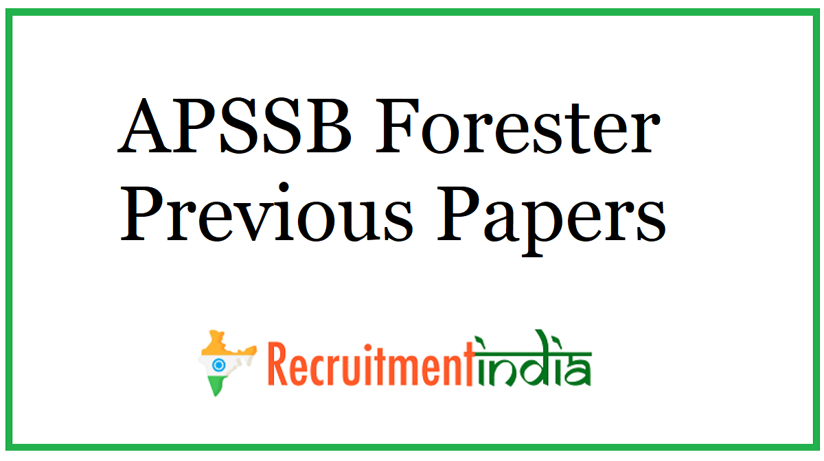 APSSB Forester Previous Papers