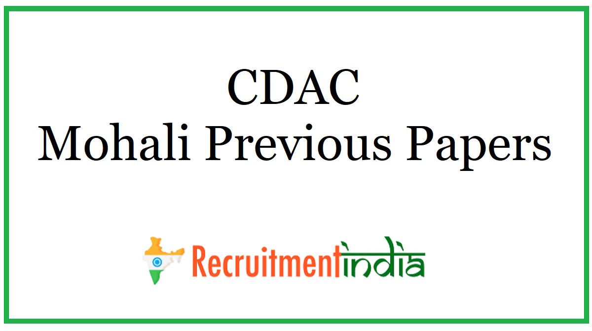 CDAC Mohali Previous Papers