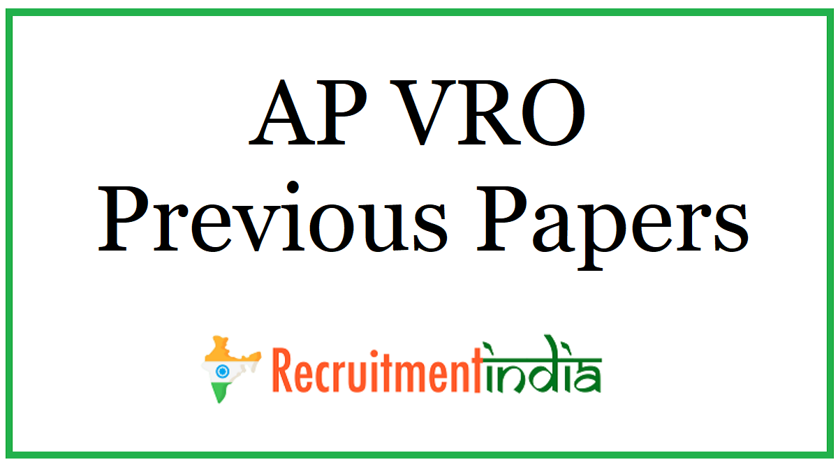 AP VRO Previous Papers