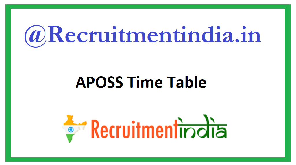 APOSS Time Table
