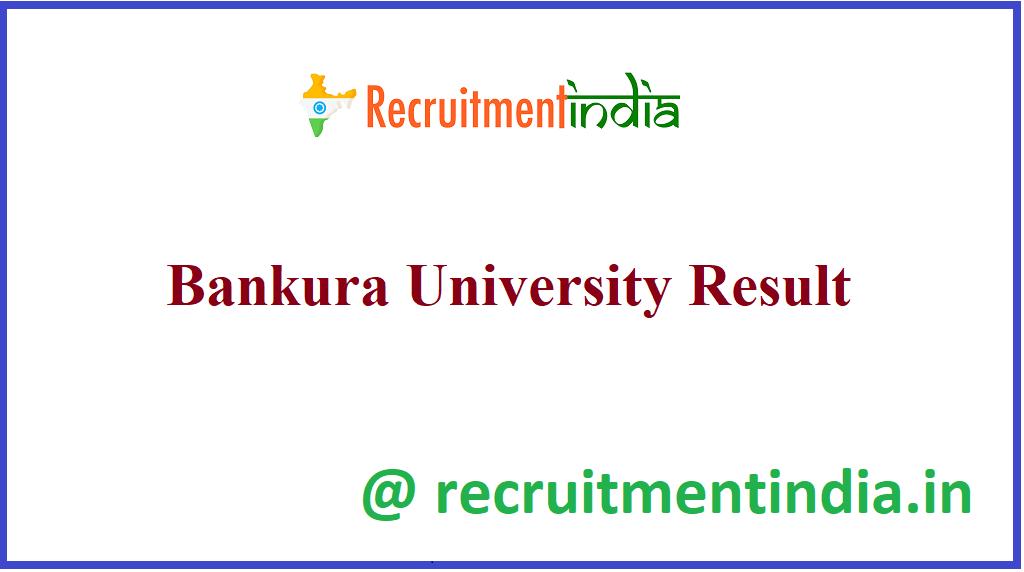 Bankura University Result