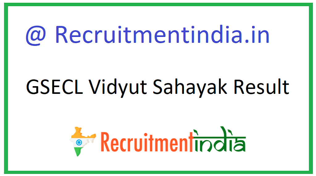 GSECL Vidyut Sahayak Result