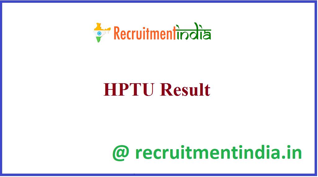 HPTU Result