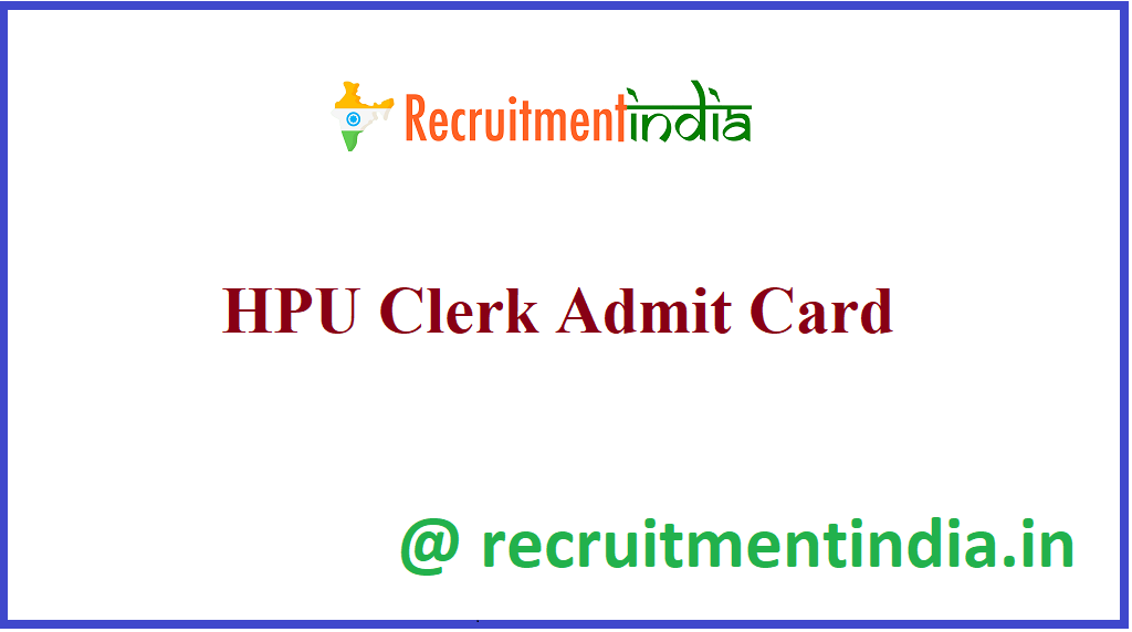 HPU Clerk Admit Card