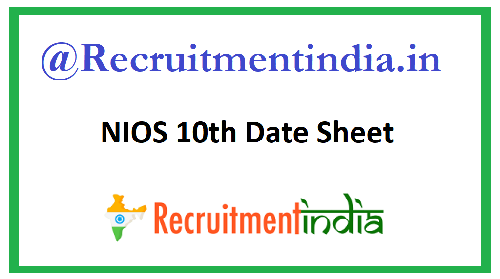 NIOS 10th Date Sheet