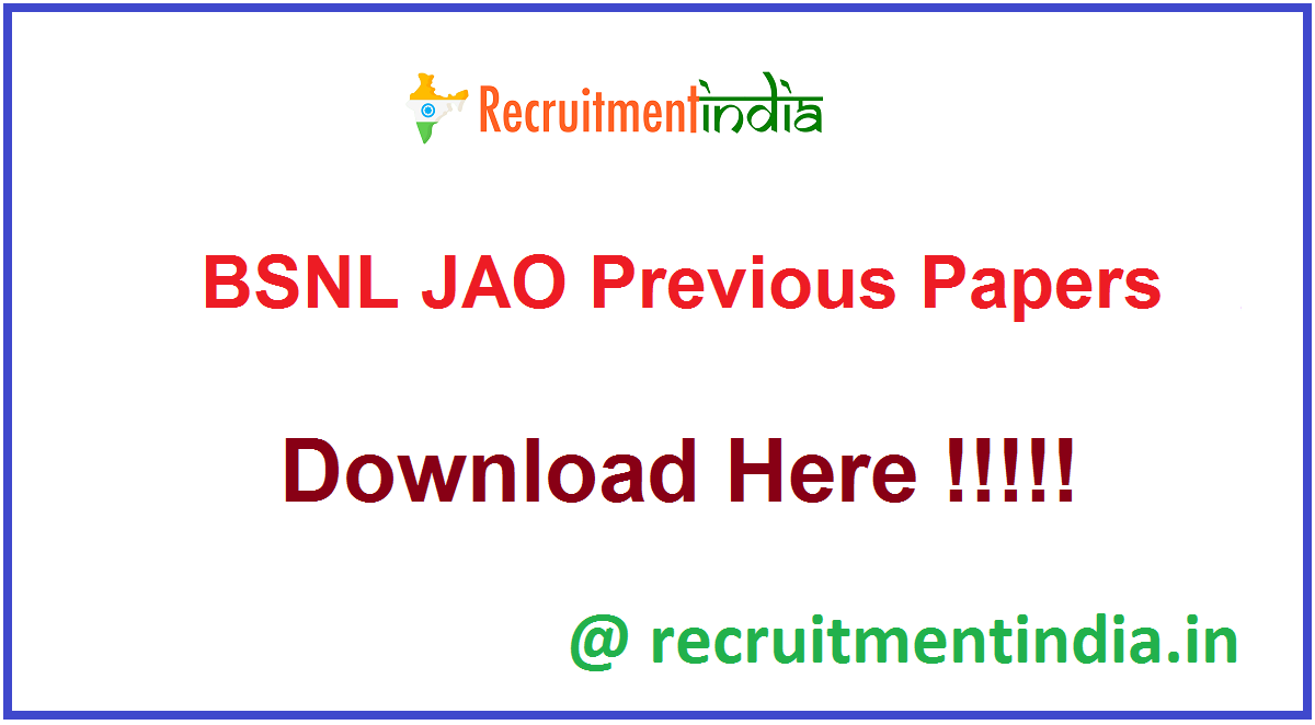 BSNL JAO Previous Papers